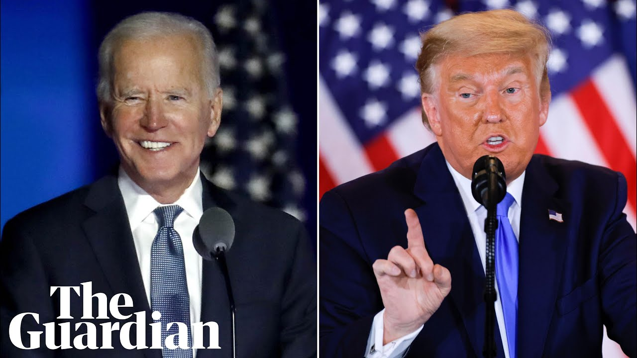 Faith v fraud: how Biden and Trump reacted to the US election results