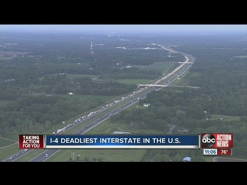 I-4 deadliest interstate in the US
