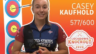 Casey Kaufhold shoots 577/600 for qualification | Lockdown Knockout
