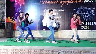 Dance performance by ece boys,ecentrix  jntuk