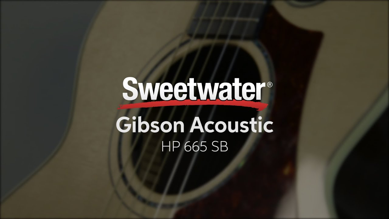 best loved daba0 38453 Gibson Acoustic HP 665 SB Acoustic-electric Guitar Demo