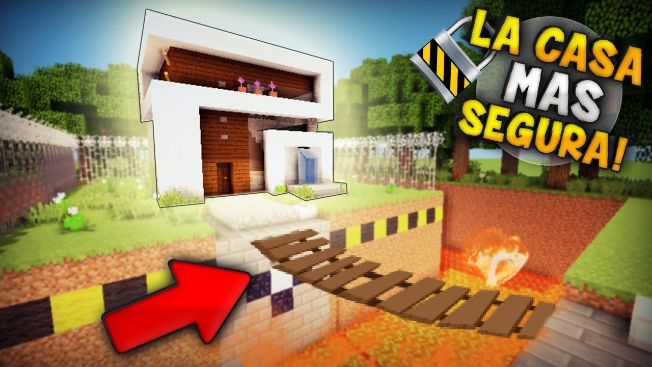 Minecraft como hacer la casa mas segura con un super - La casa mas segura del mundo ...
