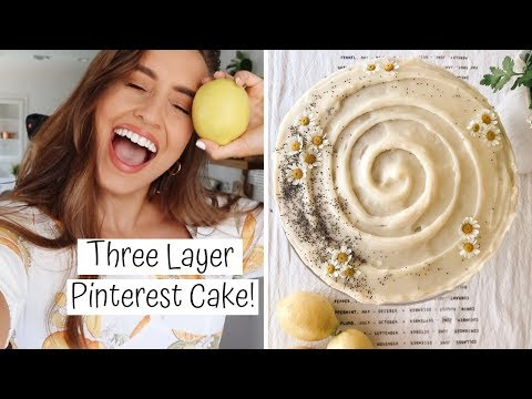 MAKING LEMON POPPY SEED CAKE | Kristin's Kitchen