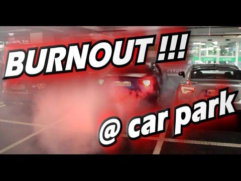CRAZY GT86 with Massive Burnout in underground car park ( Scion FRS / Subaru BRZ )
