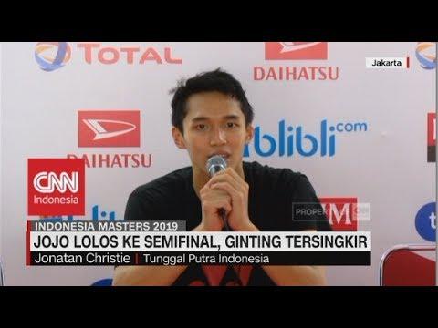 Jojo ke Semifinal Indonesia Masters 2019, Ginting Tersingkir