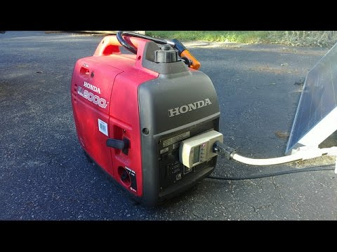 Honda EU2000I Generator load test with Overload - YouTube
