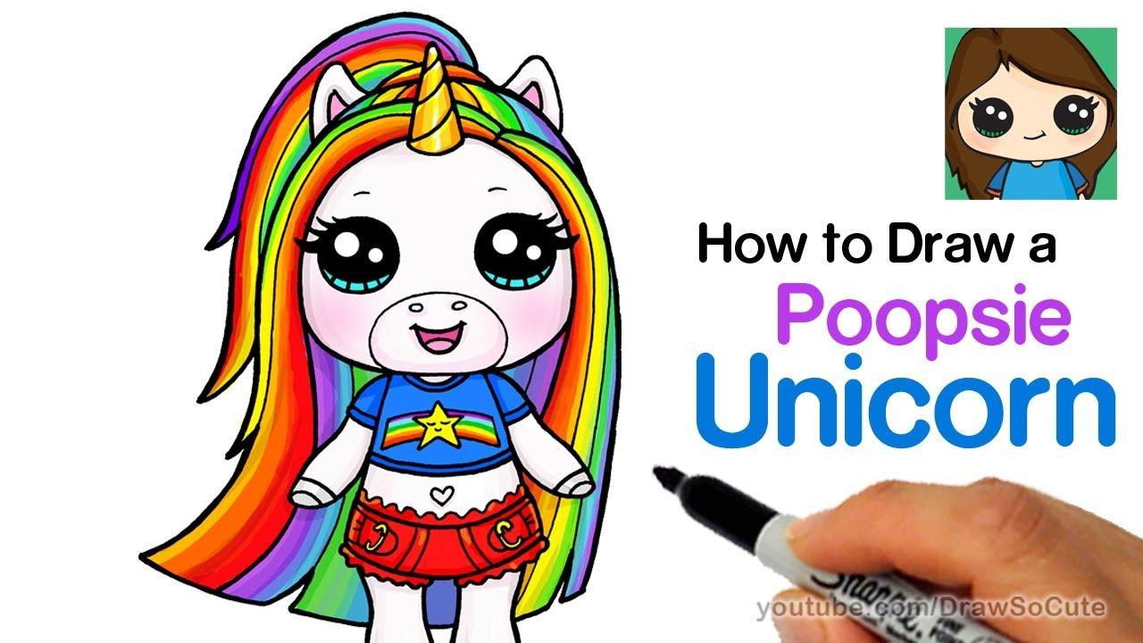 How To Draw Poopsie Slime Surprise Unicorn Rainbow Brightstar