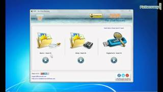 Use USB Drive Recovery Software to recover deleted data from pen drive
