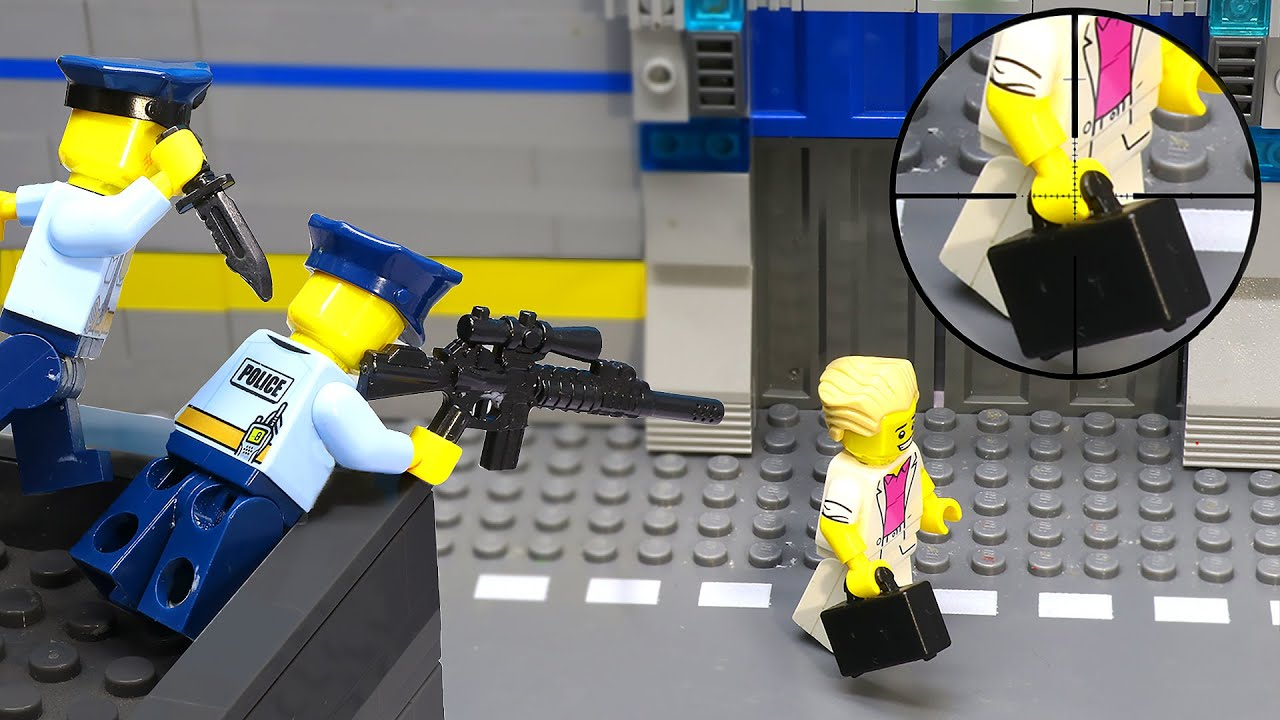 Lego City Police Gets Betrayed By His Teammate (Lego Stop Motion)