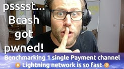 How many Transactions per Second are possible in one Payment Channel of Bitcoins Lightning Network?