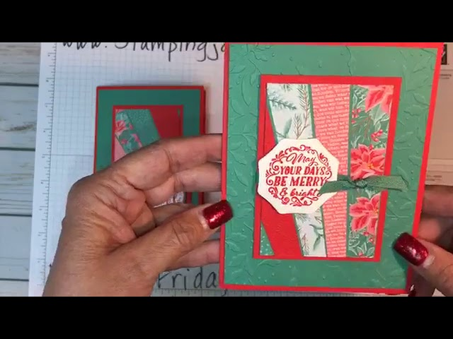 Follow Up Friday - Angled Strip Piecing Christmas cards and a Holiday sneak peek!!