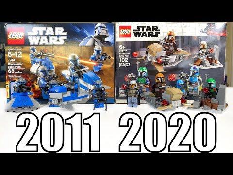 LEGO Star Wars MANDALORIAN BATTLE PACK Comparison! | (7914 Vs 75267 | 2011 Vs 2020)