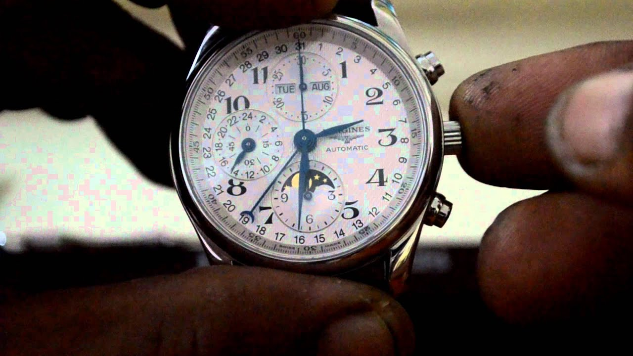 longines master collection moonphase chronograph