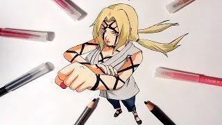 Speed Drawing Tsunade ( Byakugo Strength of a Hundred Technique) - Naruto Shippuden