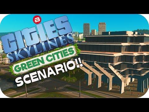 Cities: Skylines Scenario ▶TRANQUIL UNIVERSITY◀ Green Cities DLC Scenario Clean Up Crew Part 7