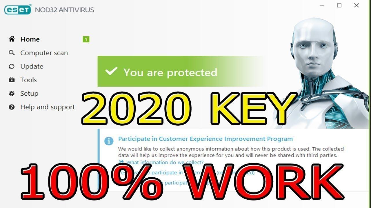 Eset Nod32 antivirus 12.1.34.0 2019 - license key valid up ...