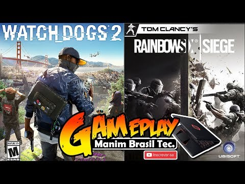 Notebook Samsung Odyssey 🎮 Gameplay (Desempenho) Watch Dogs 2 & Rainbow Six Siege - Nvidia GTX 1050