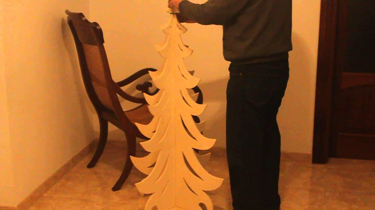 Arbol de navidad de madera desmontable de 122 cm de altura youtube - Arboles de navidad de madera ...
