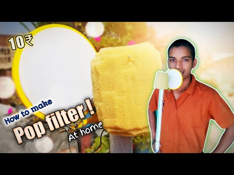 How to make a pop filter at home in hindi - pop filter kese banaye - pop filter vs pop filter - home