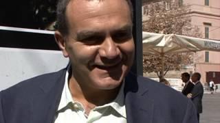 """Ancona - Mario Guerra intervistato per la mostra """"Materia-Design Andata e Ritorno"""". 15 09 2011"""