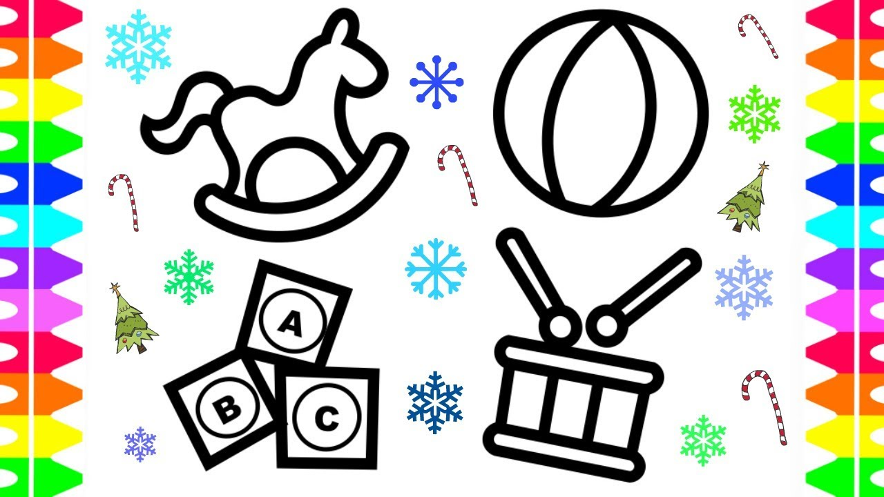 Christmas Holiday Coloring Pages for Kids -Baby Christmas Toys ...
