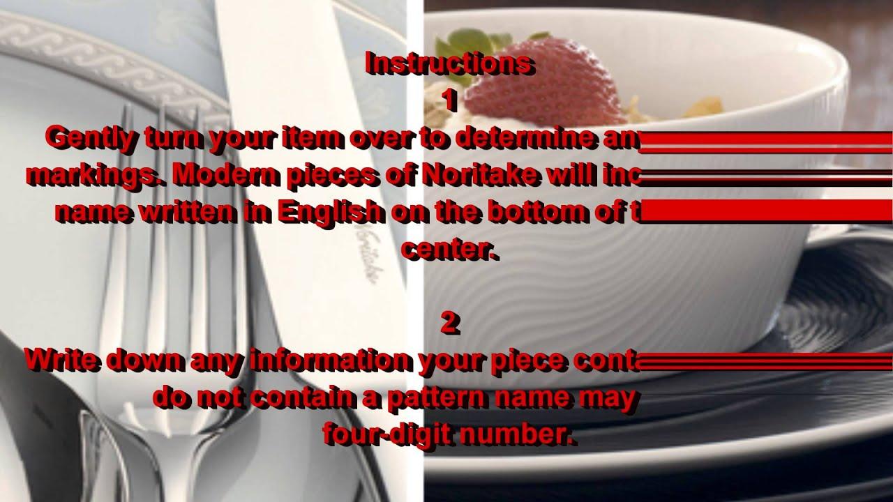 How to Identify Noritake Patterns - YouTube