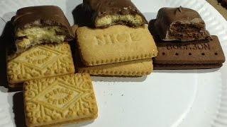 Make VERY chocolate biscuits (cookies).