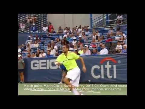 Match point, Marin Cilic d. Sam Querrey, 2015 Citi Open third round - Meniscus Magazine