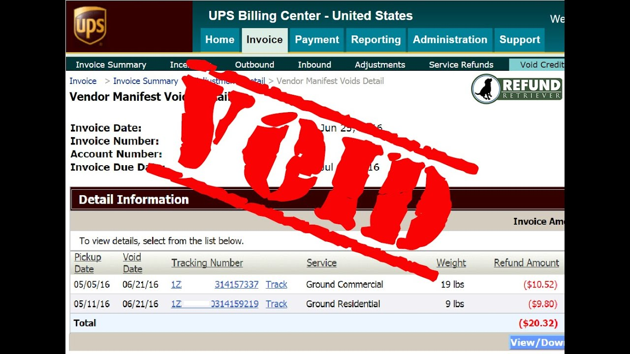 How to Void Unused UPS Shipping Labels Online | Refund Retriever