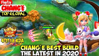 CHANG'E BEST BUILD IN 2020 | TOP GLOBAL CHANG'E FlopTzy - MOBILE LEGENDS