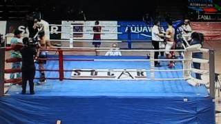 Samir Hesenov - AZE Çempionatı Kikboksinq 2016 1-ci Doyus ---15.02.2016 ---Nakaut