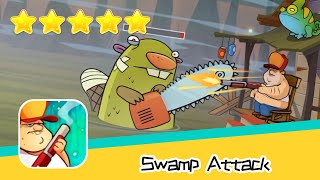 Swamp Attack EPISODE 3 Level 8 Walkthrough Defend Survive Attack! Recommend index five stars