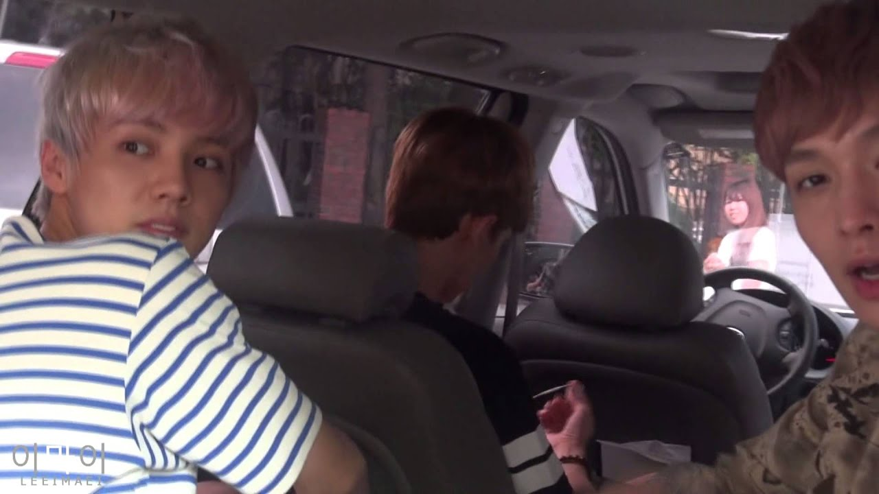 Luhan Lay Amp Chen In The Car Lay Eye Contact 14 8 2013