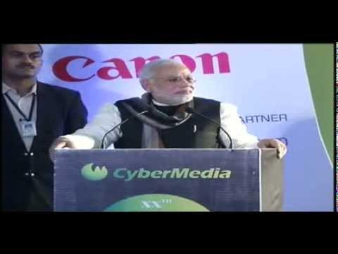 Shri Narendra Modi addressing at the CyberMedia ICT Business Awards 2013 in Delhi - Speech