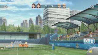 Wii SPORTS CLUB ~ TENNIS ~ VS. Lau ~ DEFILED CANYON - NO COMMENTARY