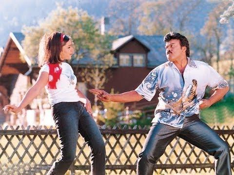 Indra Songs With Lyrics - Ghallu Ghallu Song - Chiranjeevi, Aarti Agarwal, Sonali Bendre