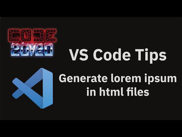 Generate lorem ipsum in html files