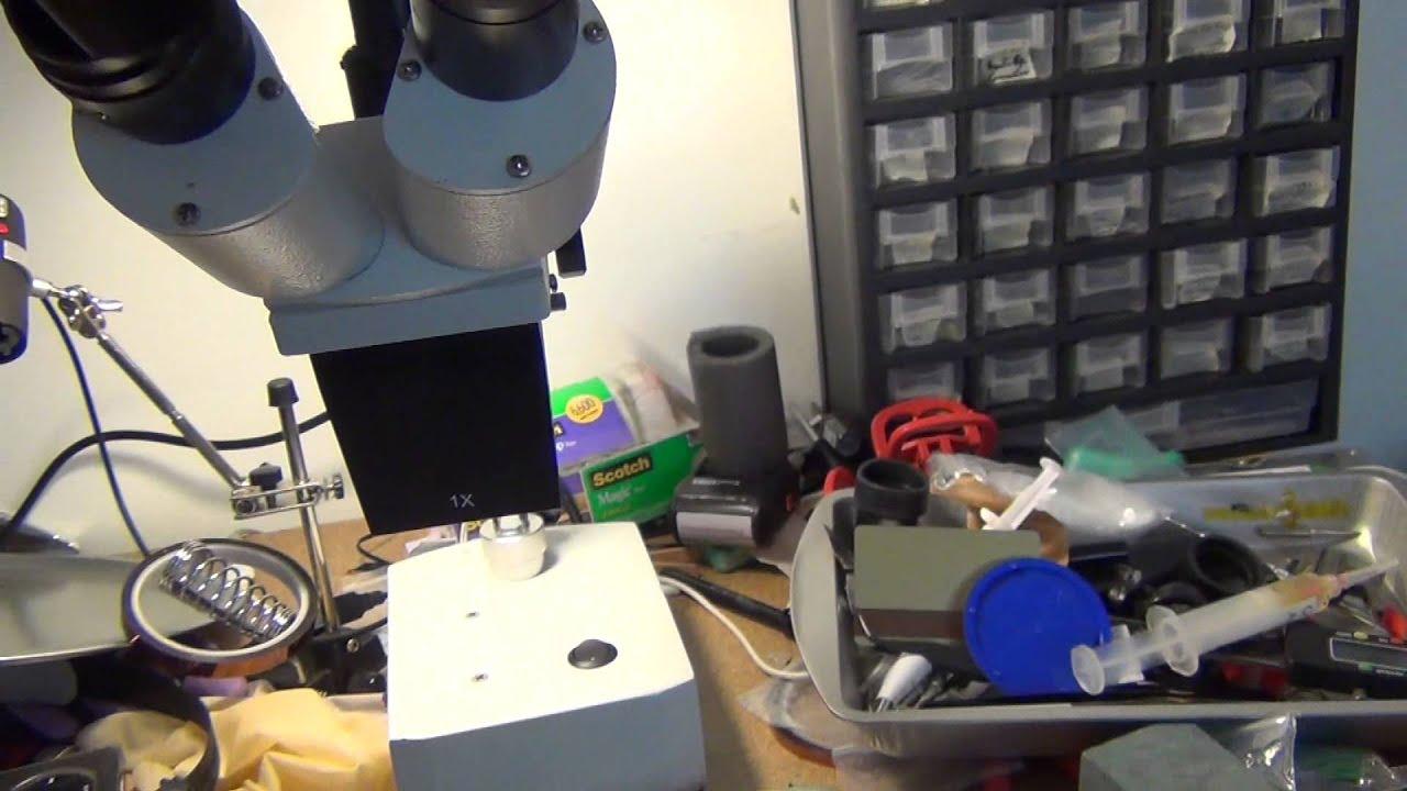 Soldering Microscope Amscope Se400 Z 10x 20x Widefield