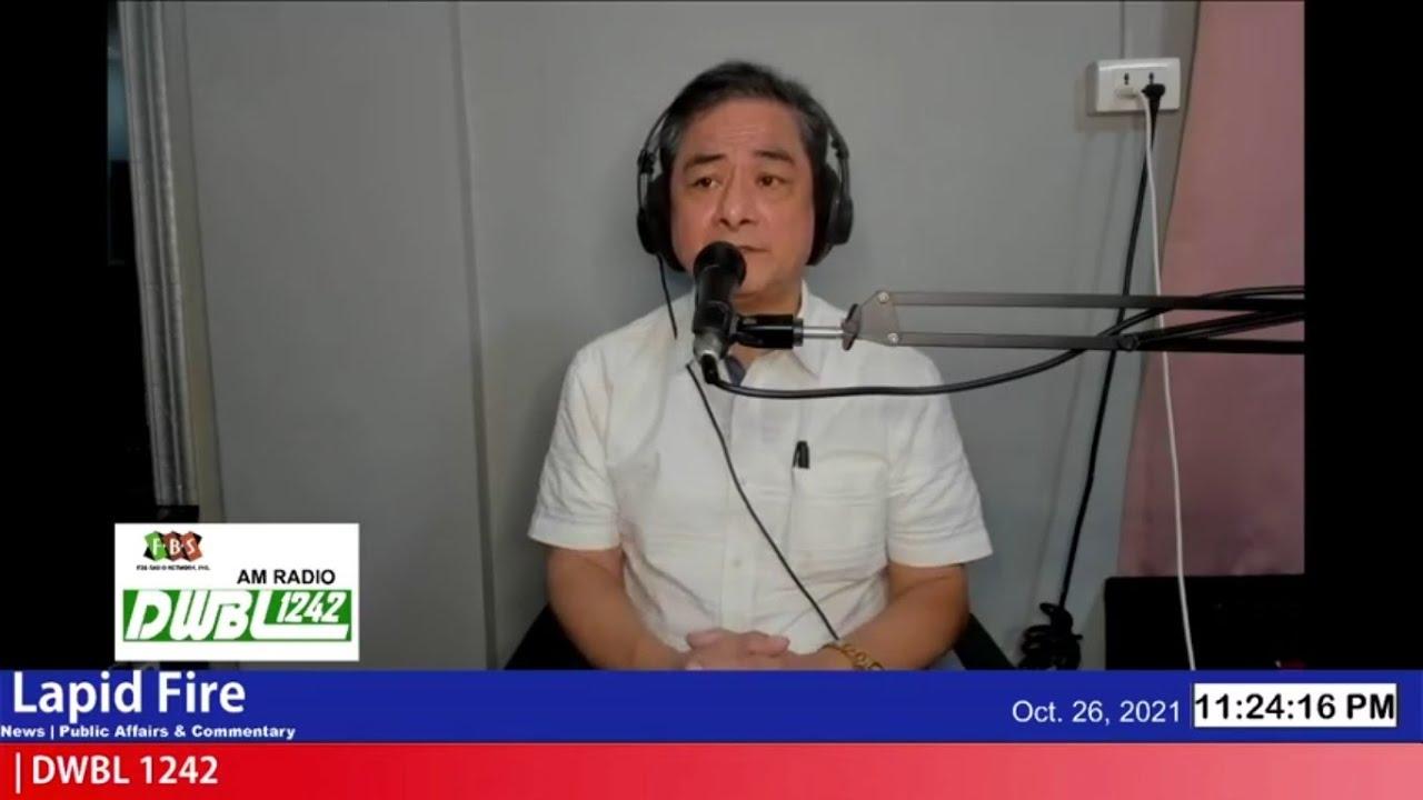 """""""NATIONAL INTEREST"""", DAPAT PANGUNAHIN SA MGA NASA MEDIA, BAWAT PILIPINO! (LAPID FIRE, Oct 26, 2021)"""