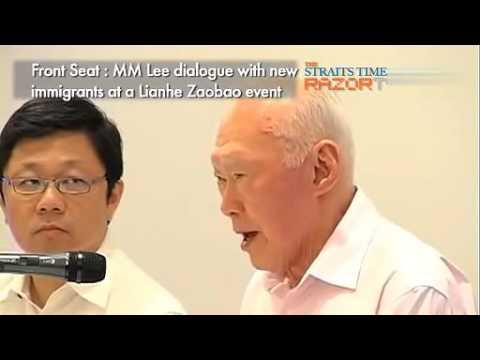 李光耀与新移民对话