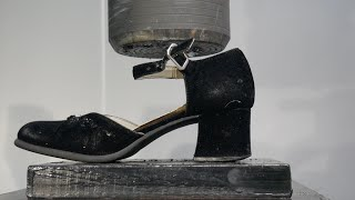 Crushing Thick High Heels with Hydraulic Press