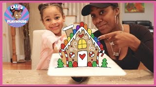 CALI'S FIRST GINGERBREAD HOUSE DIY