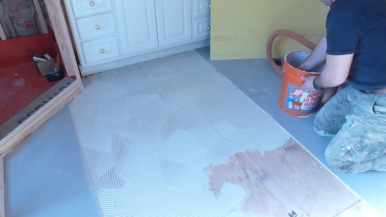Part 1 how to install tile backer board on wooden - How to replace subfloor in bathroom ...