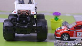 Мультик про машинки - 201 серия:  Полицейская погоня, Гоночная машина, Авария, Монстер Трак