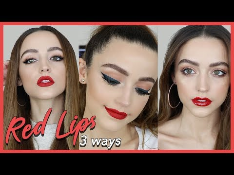 3 EASY MAKEUP LOOKS TO PAIR WITH RED LIPSTICK!