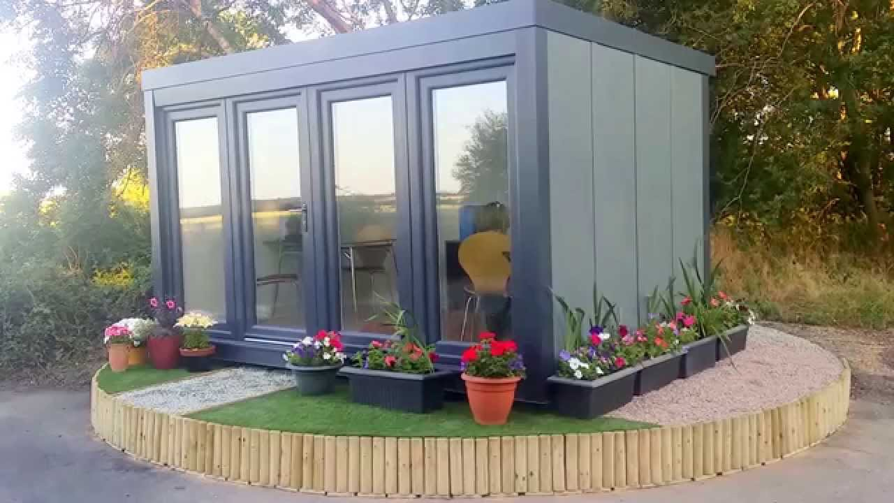 The new qcb garden office from booths garden studios youtube for The garden studio