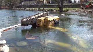 NRWspot.de | Hagen-Hohenlimburg – Bagger in Fluss umgestürzt – Bergung dauerte den ganzen Tag