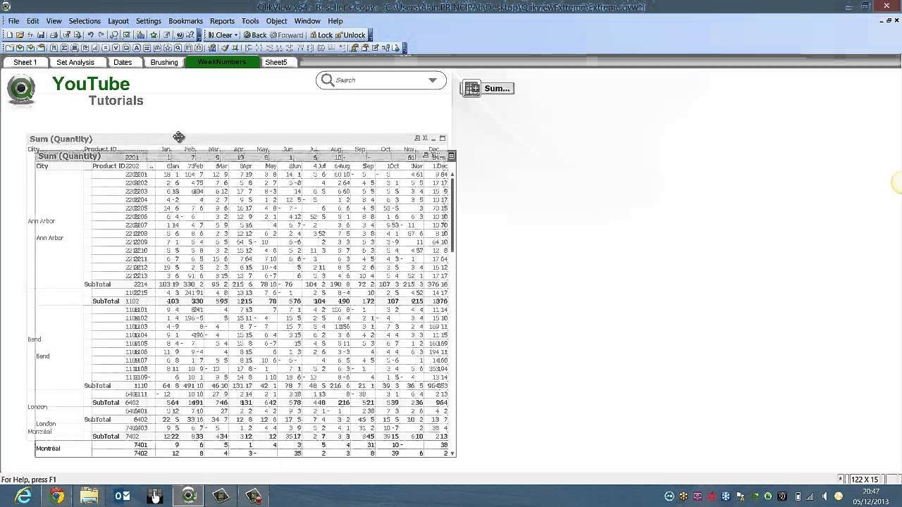 qlikview create a pivot table by rfb 161 youtube