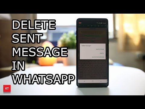How to delete WhatsApp message send to a wrong contact