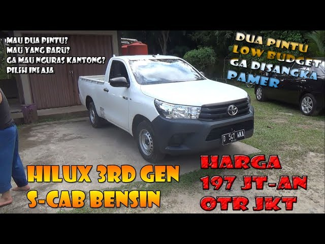 Review Toyota All New Hilux S-Cab Bensin Tahun 2017